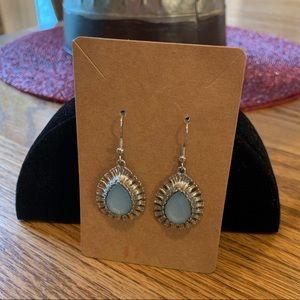 💥4/$10💥 Blue & Silver Tone Tear Drop Earrings